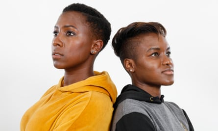 Jade Anouka, left, and Nicola Adams photographed this month by Katherine Anne Rose for the Observer New Review. Hair and makeup by Kylie McClelland.