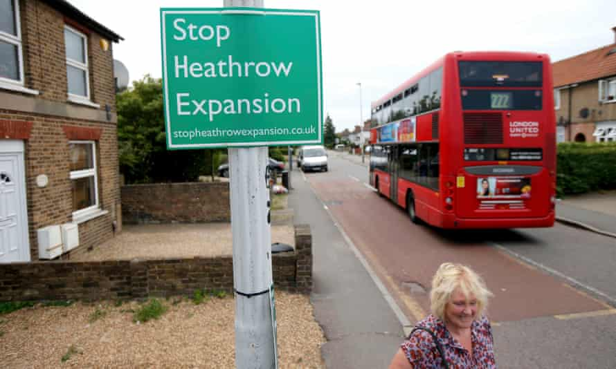 An anti-Heathrow airport expansion protest sign in the threatened village of Sipson, adjacent to the airport