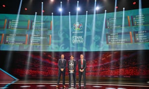 England's Gareth Southgate (left) at the Euro 2020 draw, where a presentation was made on a possible British-Irish World Cup bid for 2030.