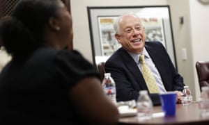 Phil Bredesen takes part in a roundtable discussion in Nashville, Tennessee. The former governor is a Democrat in a state Trump won handily.