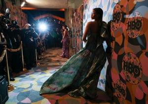 Storm Reid arrives for the HBO celebration