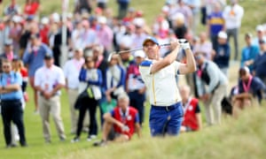 Rory McIlroy of Northern Ireland in action.