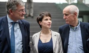 Jörg Meuthen, Petry and AfD deputy spokesman Albrecht Glaser.