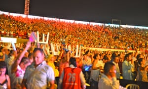 Crowd at the Ronda del Concurso stadium, Valledupar, Colombia.