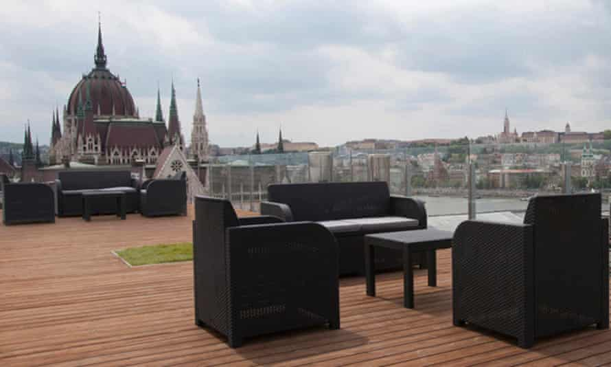 Roof lounge at Parliament Penthouse Boutique, Budapest