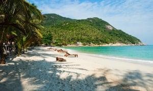 The Had Rin beach in Koh Phangan, Thailand.