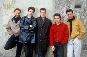 Lloyd Cole and the Commotions posing in Munich in 1985.