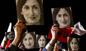 Protesters in Valletta call for Daphne Caruana Galizia's killers to be brought to justice