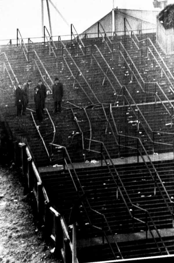 The aftermath of the stadium crush at Ibrox on 2 January 1971.