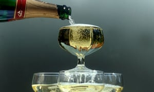 Champagne pouring into glasses