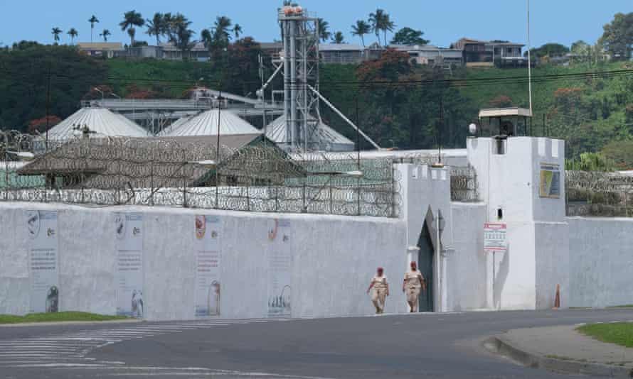 The walls of the Suva Prison on Foster Road, Walu Bay, Suva, Fiji