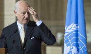 Staffan de Mistura, UN special envoy for Syria