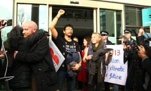Hundreds of supporters came out in solidarity to support the Heathrow 13, who were sentenced at Willesden magistrates court.
