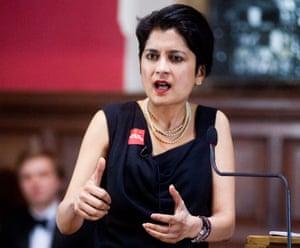Shami Chakrabarti taking part in a debate on free speech at the Oxford Union in March.