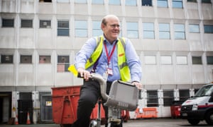 Rupert Soames, chief executive of outsourcing company Serco, at the Serco London Cycle Hire depot in London.