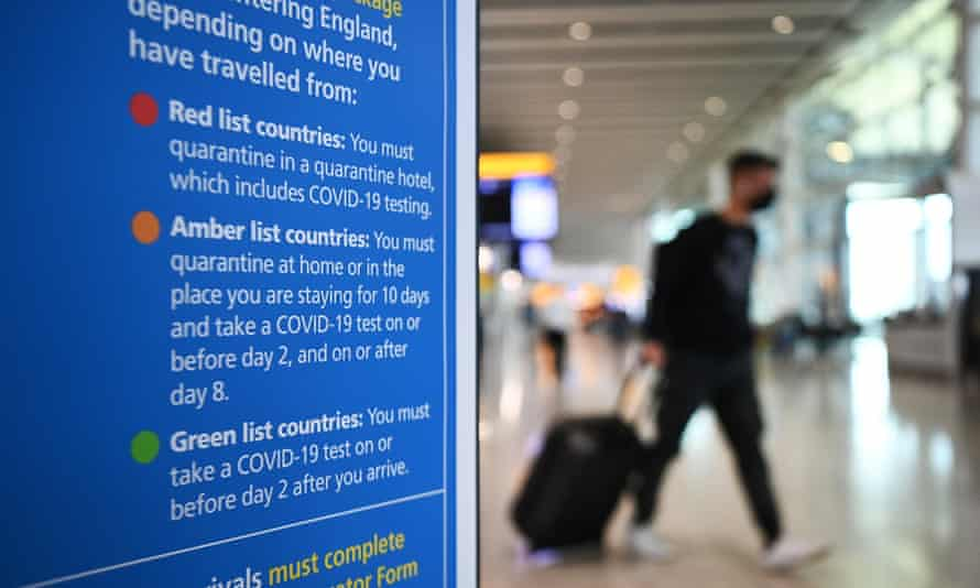Arrivals at Heathrow airport: changes are being considered to the traffic light system.