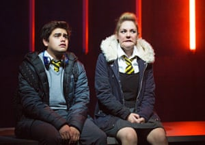 Christian Ortega and Helen Mallon in Milk performed at the Traverse Theatre