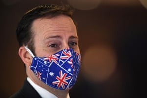 A patriotic face mask.