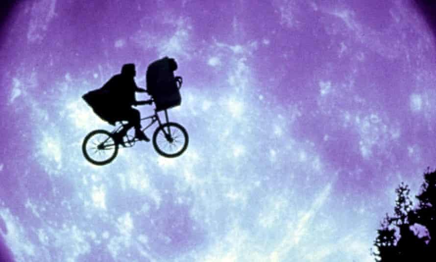 ET rider ... ET: The Extra-Terrestrial.