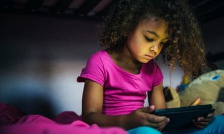 Girl using a digital tablet
