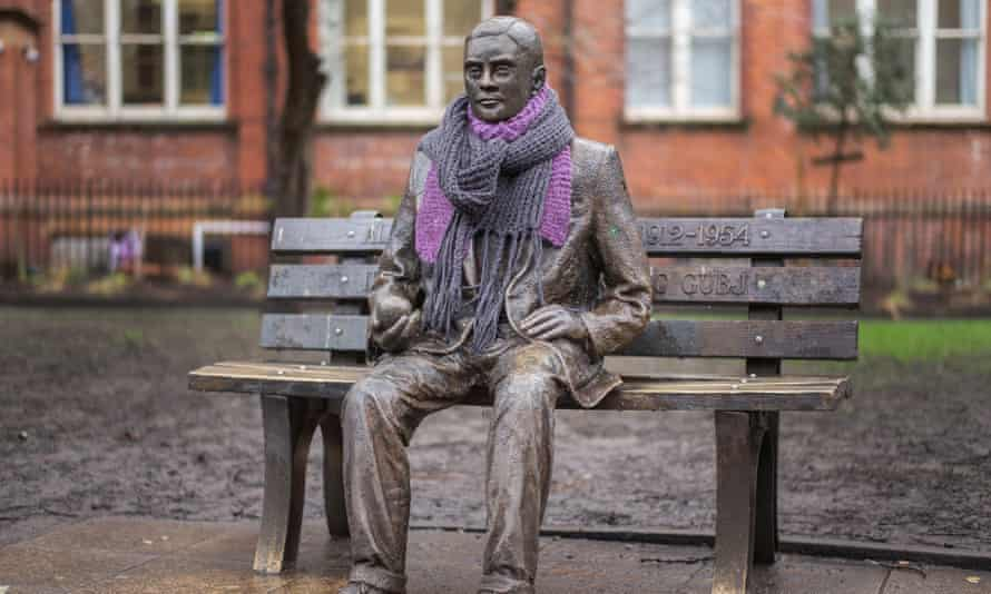 A statue of Alan Turing