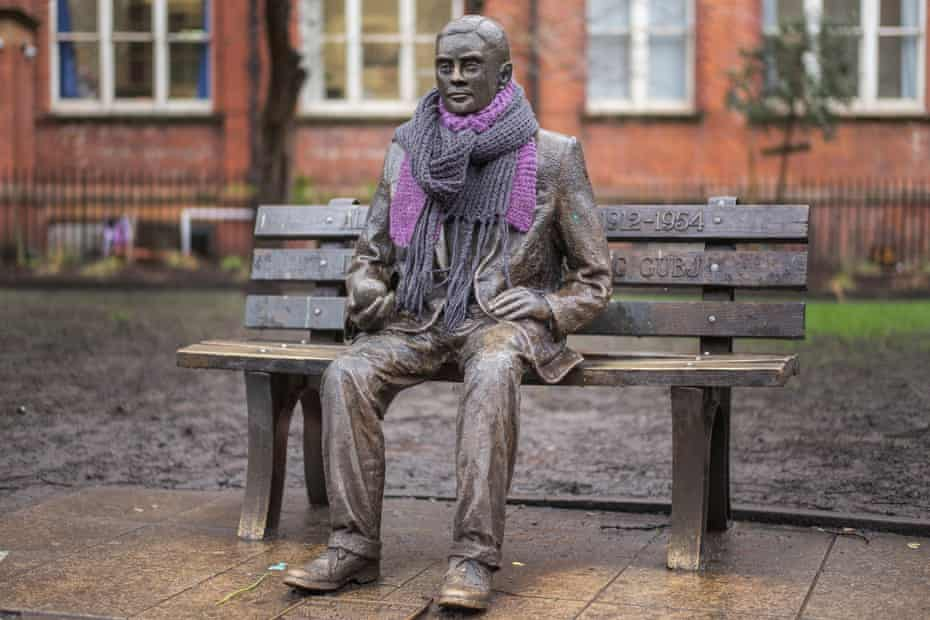 A statue of Alan Turing sits in Sackville Park in Manchester's Gay Village on February 1, 2017.