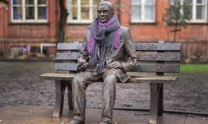 The statue of Alan Turing sits in Sackville Park in Manchester.