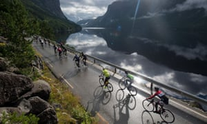 The Maserati Haute Route Norway brings stunning, constantly changing view and unpredictable weather.