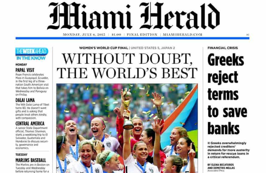 miami herald women's world cupt