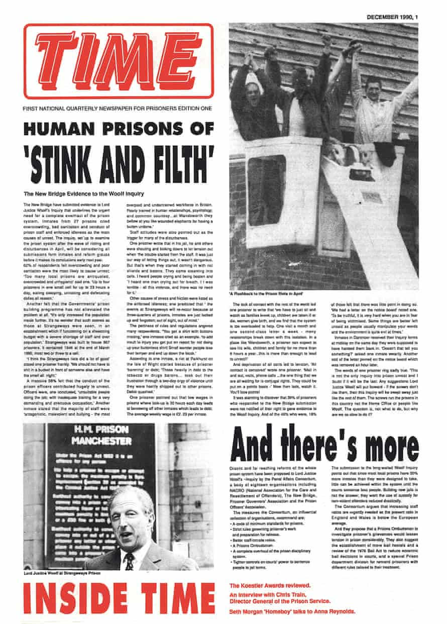 The first issue of the newspaper, with its photograph of the Strangeways riot