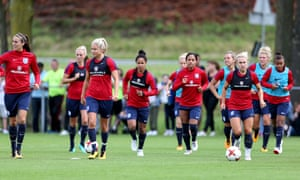 England women's football team training in Utrecht, Netherlands