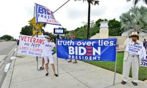 Biden supporters in Florida.