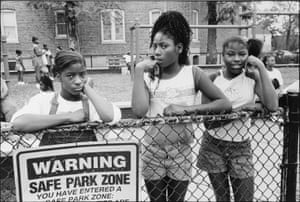 Young women, Englewood, Chicago, 2000