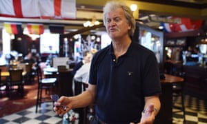 JD Wetherspoon chairman Tim Martin in one of his London pubs.