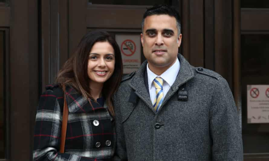 Reena and Sandeep Mander outside Oxford county court