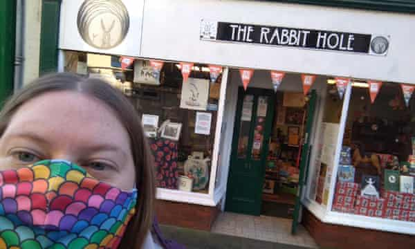 Nell Pattison outside The Rabbit Hole.