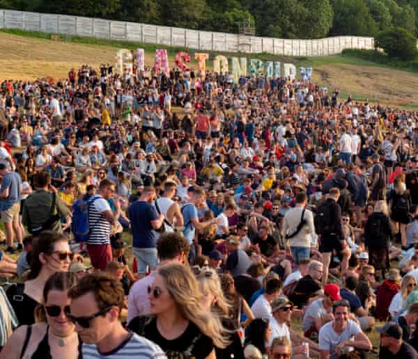 Glastonbury festival, 2019.