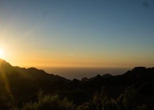 'Sunset over the Tramuntana mountains in North West Mallorca. Described aptly by Bradley Wiggins as a Scaletrix track for cyclists. A World Heritage site and simply stunning.'