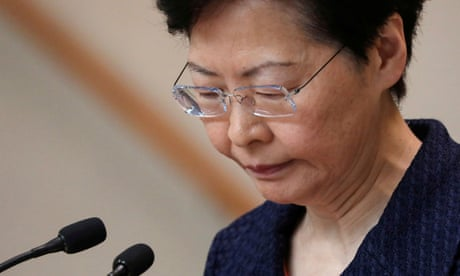 Hong Kong: I would quit if I had choice, says leader in leaked audio