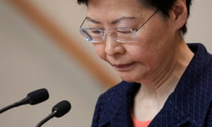 Carrie Lam says she would quit as Hong Kong CEO if she had a choice.