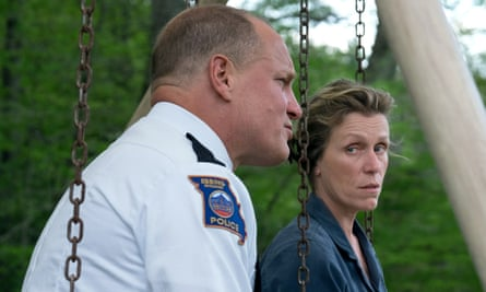 With Woody Harrelson in Three Billboards.