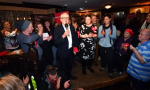 Labour leader Jeremy Corbyn campaigning in Bolton, December 2019