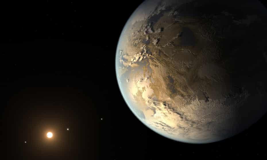 An artist's impression of the exoplanet dubbed Kepler-186f.