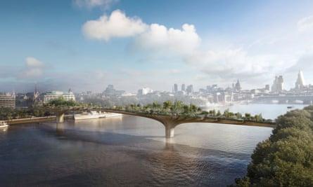Artist's impression of the proposed bridge.