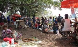 The main market at Lorengau, the largest city on Manus Island.