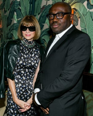Anna Wintour and Edward Enninful at the Tom Ford and CFD Dinner, New York Fashion Week, USA - 06 Sep 2019