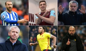 Glenn Murray, Jordan Hugill, José Mourinho, Pep Guardiola, Troy Deeney and Alan Pardew will be in the spotlight this weekend.