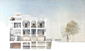 A proposed section of the redevelopment planned by Jamie Fobert Architects.