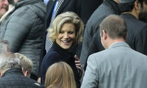 Amanda Staveley pictured in the stands during a Newcastle match against Liverpool.