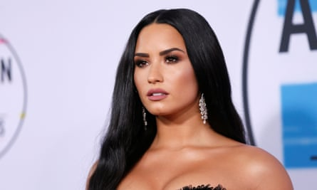 Demi Lovato at the 2017 American Music Awards in Los Angeles.